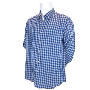 J Crew NWT Blue Gray Plaid Slim Fit Shirt XL